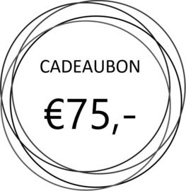 Cadeaubon €75,-