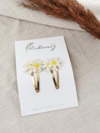Haarspeldjes - Daisy clip klein (2 stuks)