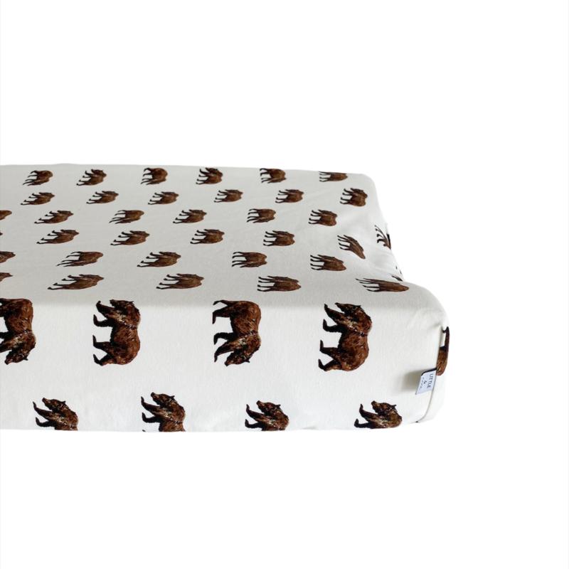 Aankleedkussenhoes -  Bear Brown