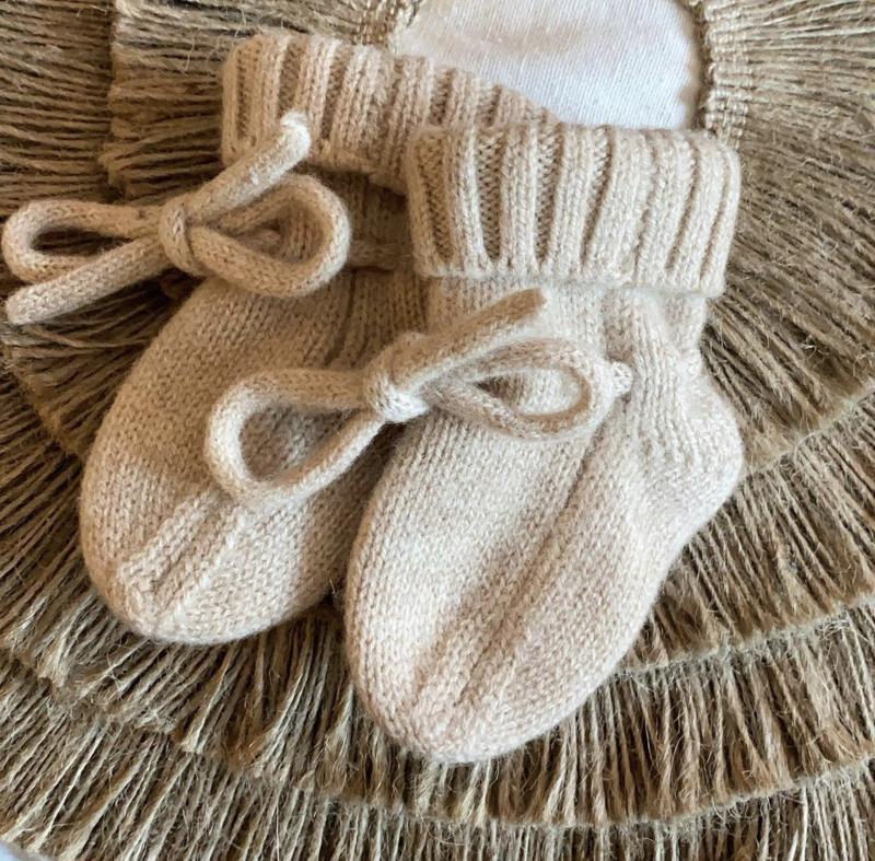 Merino wol booties sand