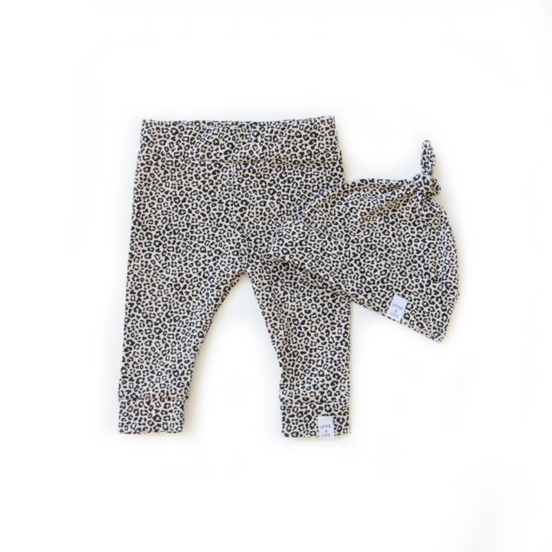 Newborn set - Leopard sand