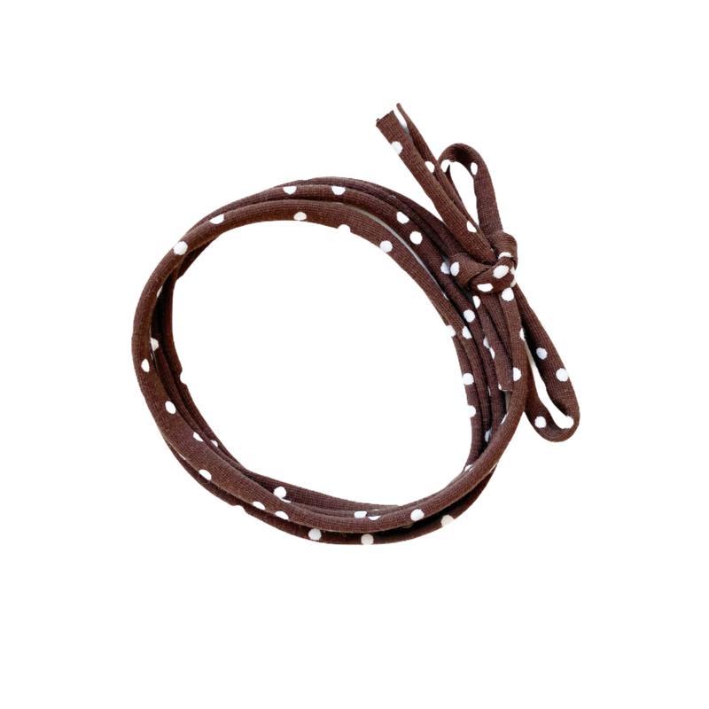 Strikbandjes - Dots brown