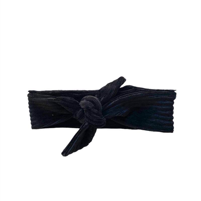 Haarband Breed - Rib zwart