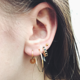 Initial earring gold