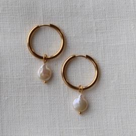 XL freshwater pearl earring