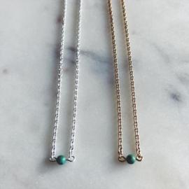 Short necklace + turquoise gemstone