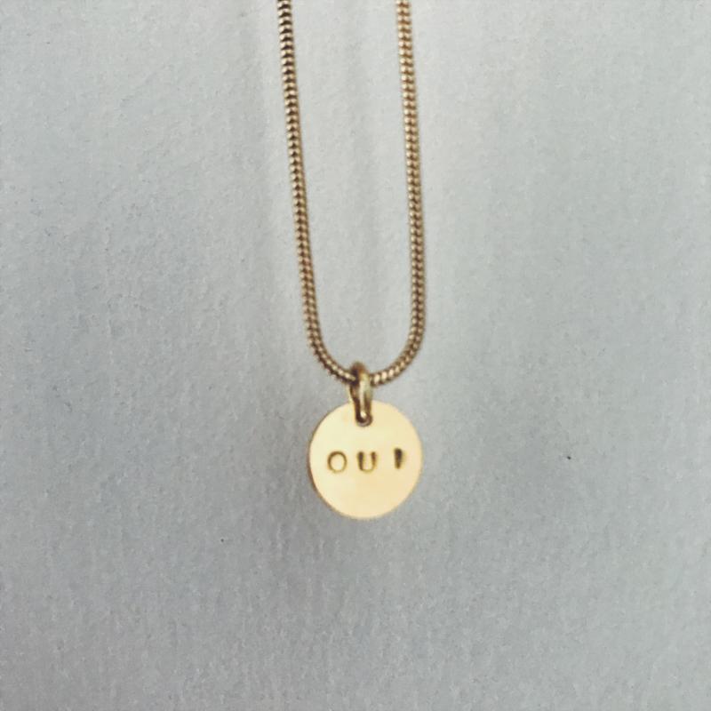 OUI necklace