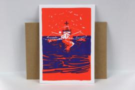 Vissersboot op zee.