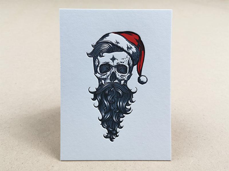 Hipster Santa Skull