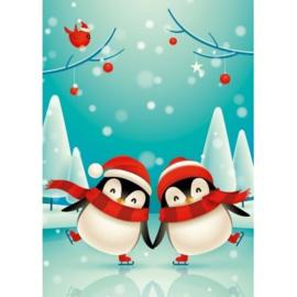 brief schaatseende pinguin, klein