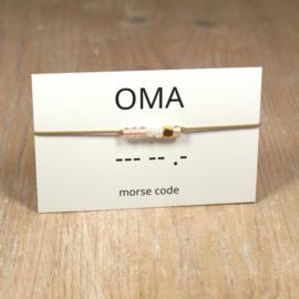 morsecode OMA armband goud