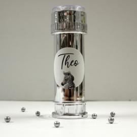 10  zilveren bellenblazers met naam