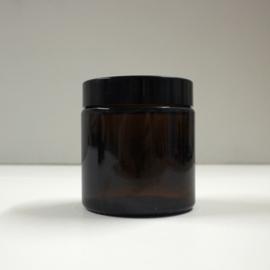 glazen potje, amberkleurig 60 ml