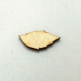 Houten figuurtje blad