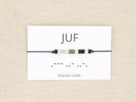 Morse code armband juf
