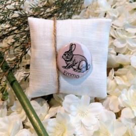 linnen geurzakje met gepersonaliseerde pin, 10st