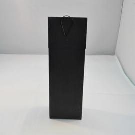 hoge doos met klep, zwart, leeg