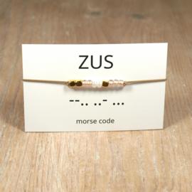 morsecode ZUS armband goud