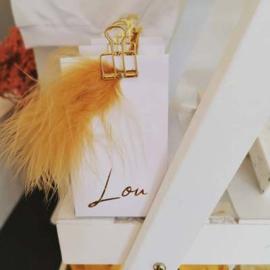 Lou, 10 witte doosjes met pluim
