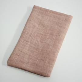 oudroze recht linnen zakje