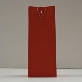 hoge doos met gaatje, terracotta