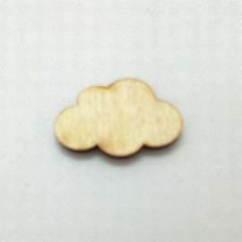 Houten figuurtje wolk