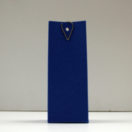 hoge doos met gaatje, kobaltblauw