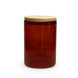 Terracotta glazen uitdeelpot met kurk