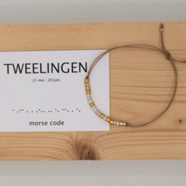 morse code armbandje, tweelingen