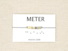 Morse code armband meter