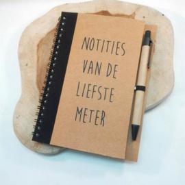 notitieboekje 'liefste meter'