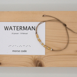 morse code armbandje, waterman