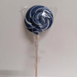 lolly marineblauw met wit lijntje