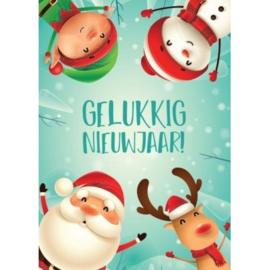brief wuivende kerstfiguren, klein