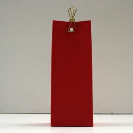 hoge doos met gaatje, rood