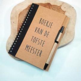 notitieboekje van de tofste meester