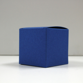kubus kobaltblauw