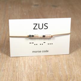 morsecode ZUS armband zilver