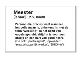 meester (leraar)