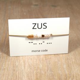 morsecode ZUS armbandje rosegold
