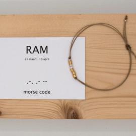 morse code armbandje, ram
