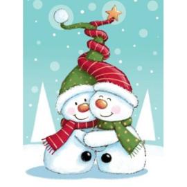 brief knuffelende sneeuwmannen , groot