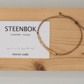 morse code armbandje, steenbok