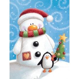 brief sneeuwman en pinguin, groot