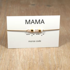 morsecode MAMA armband rosegold