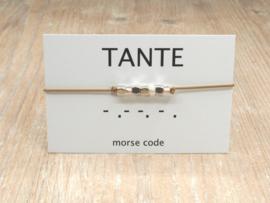 Morse code armband Tante