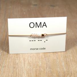 morsecode OMA armband rosegold