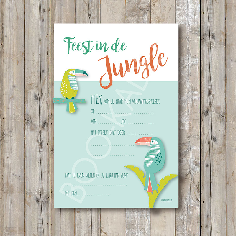 Uitnodiging jungle party