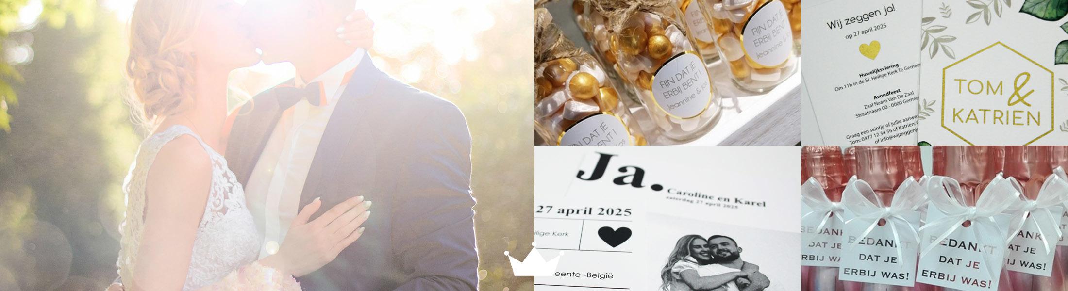 Bookadee: trouwuitnodigingen, huwelijksbedankjes