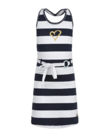Lofff Fancy Block Stripe Dress Blue/White